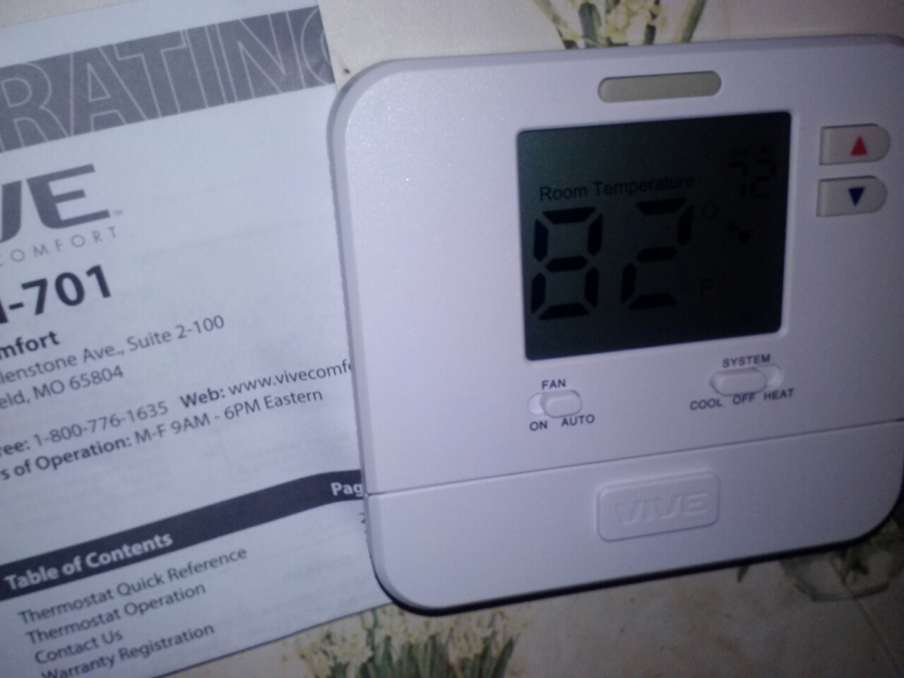 Livonia, LA - Checked thermostat replaced with new thermostat.