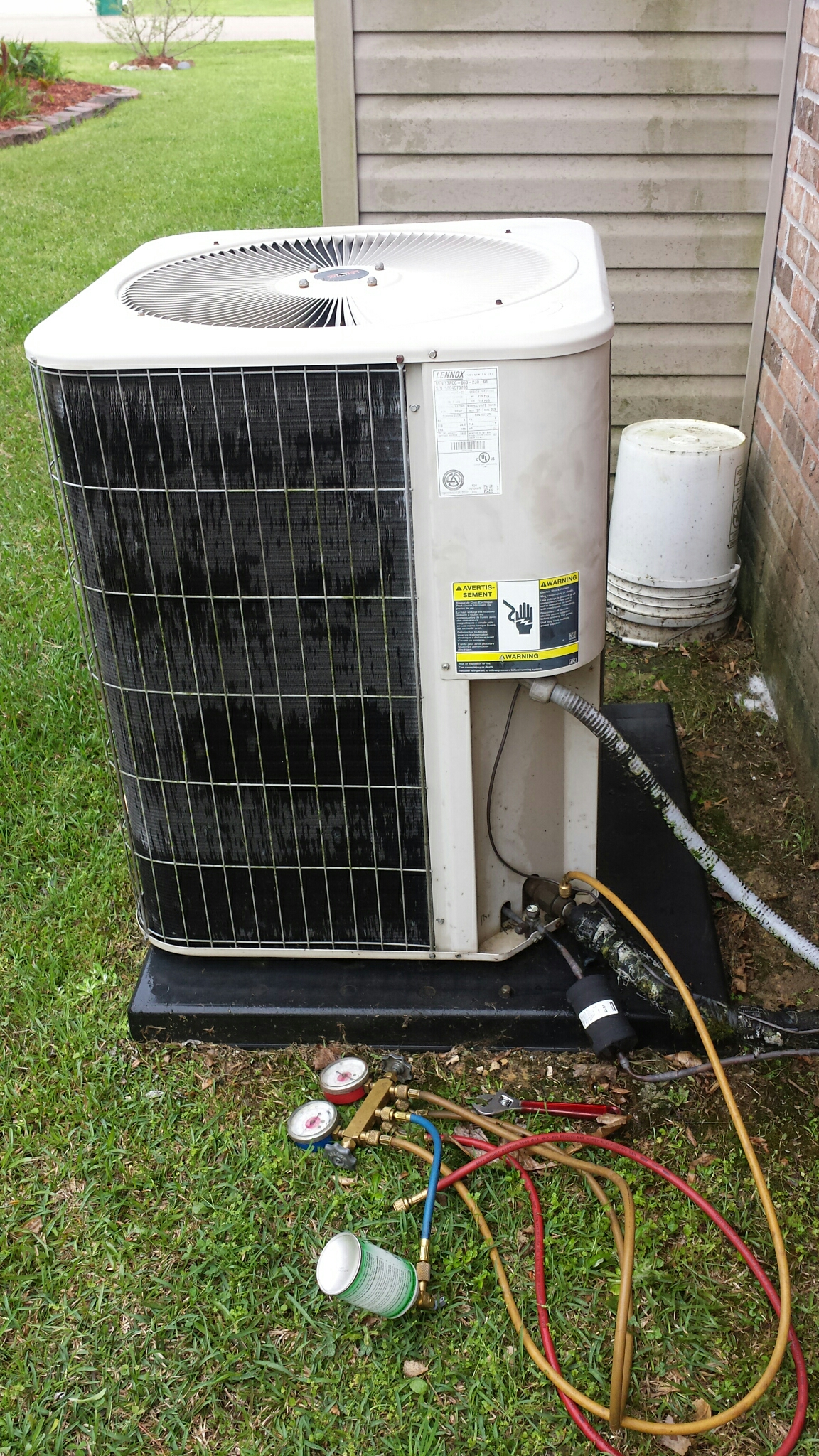 Denham Springs, LA - AC cleaning on Lennox unit