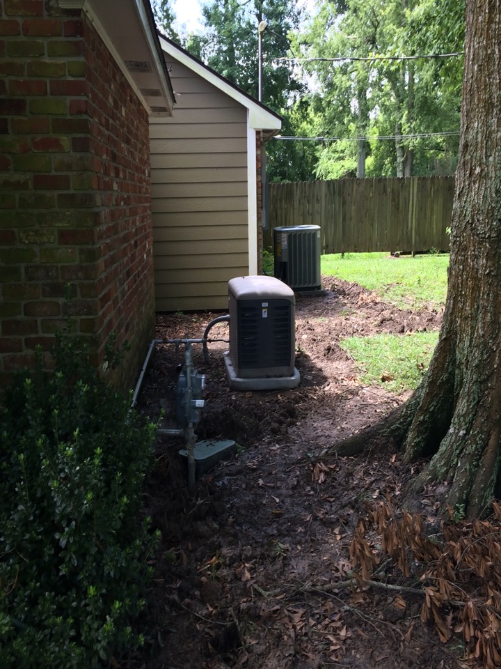 Saint Gabriel, LA - Air conditioning service Saint Gabriel on 2014 Trane outside condenser, preformed Spring maintenance, tune up and cleaning.