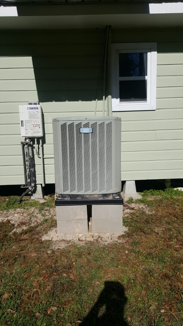 Walker, LA - Raised a condenser and performed winter maintenance on an American Standard unit