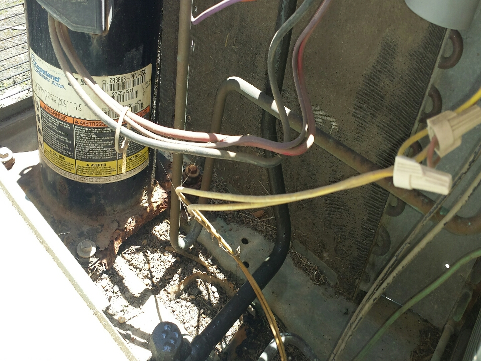 Zachary, LA - Maintenance check scraping up wires