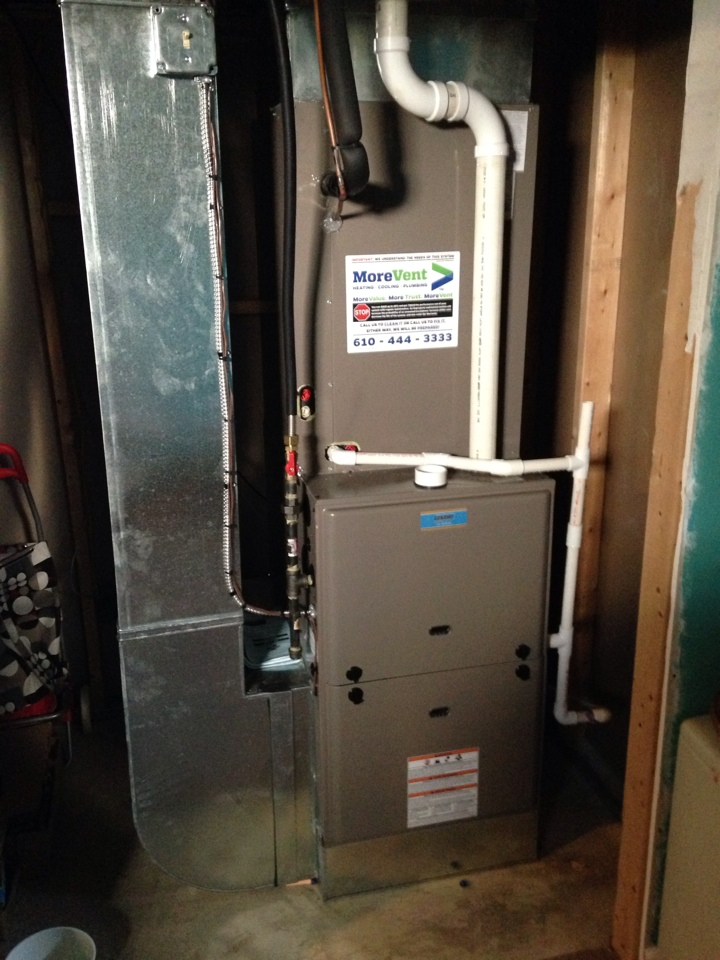 Bear, DE - Start up on new luxaire gas furnace and air conditioner installed in March