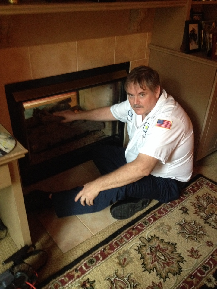 Tune-up. Cleaning and inspection of gas fire place.