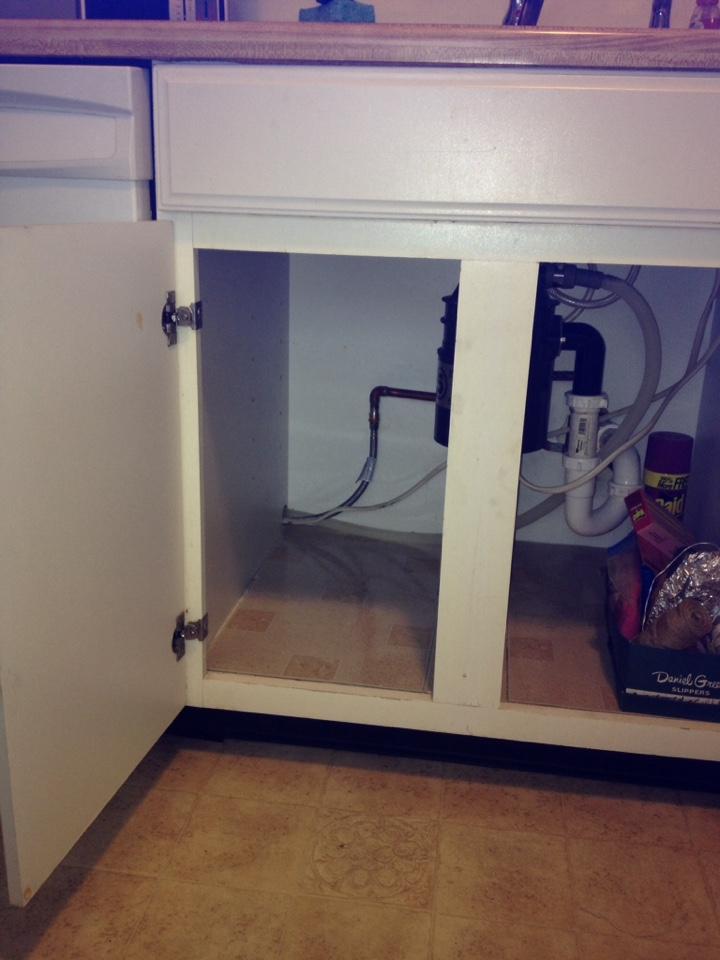Repair leak under sink