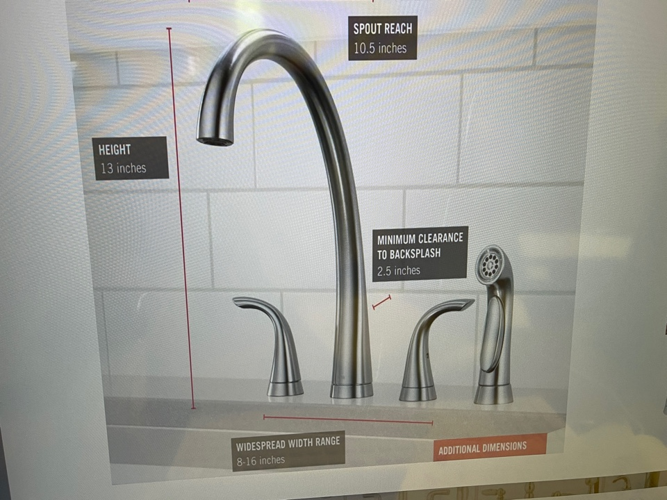 Install new garbage disposal and order new kitchen faucet.