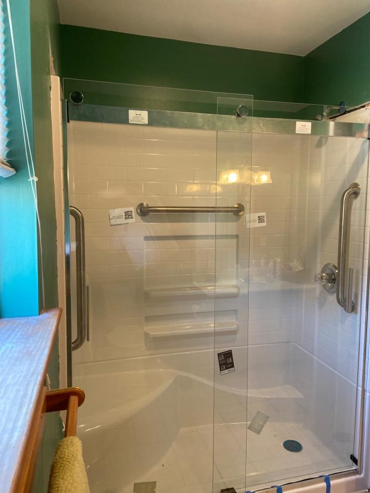Install customer supplied shower