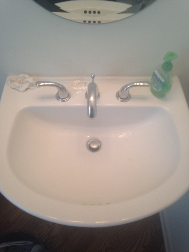 Install customer supplied faucets.