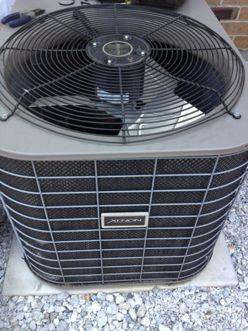 Replace condenser fan motor