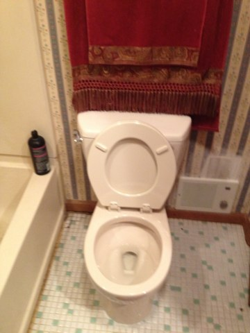 Christmas Eve, install new toto toilet
