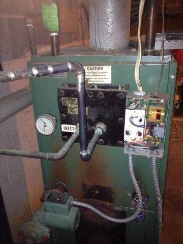 Replace bad triple aqua state to Oil boiler.