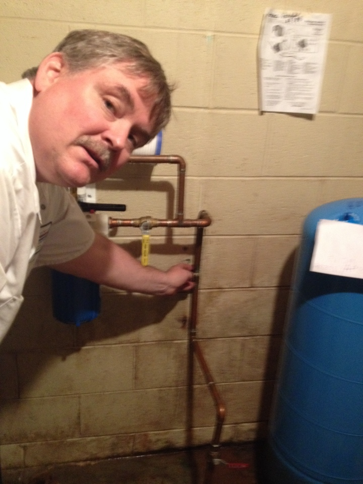 Repair leak in well water system. Acidic water can cause leaks in your copper water lines.