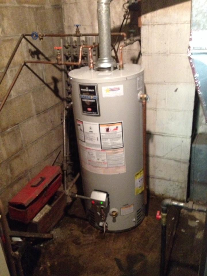 Light pilot to gas water heater