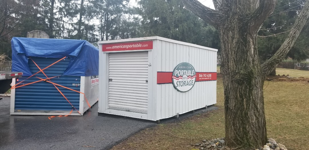 Pikesville, MD - Due to water damage emergency American Potable Storage was able to deliver a storage pod in less than 24 hours after Service Master contacted us. Our competition would deliver in 4 days.