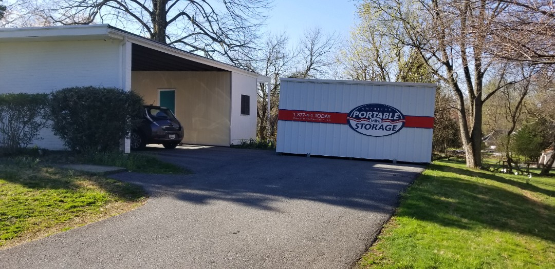 Pikesville, MD - The Presleys are not sure how long they will need the storage unit from American Potable Storage. We gave them many options for long or short term, storing the full unit in our secure storage facility or transporting the unit to a storage spot of their choosing.