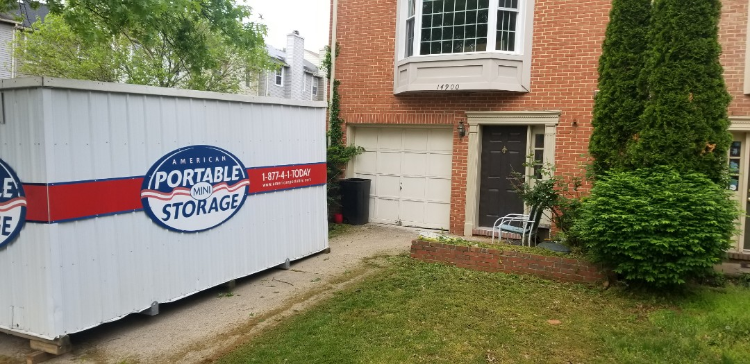 Laurel, MD - Meyers construction is doing a complete home renovation and needed a long term storage unit for supplies until finished. American Potable Storage was able to provide them with one without anyone on site so that the unit is there ahead of the start work date.