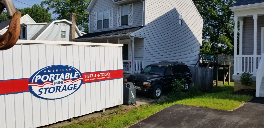 Columbia, MD - Need to store everything in you basement after a water pipe leak? That is what American Portable Storage did for the Zell's. After a six month restoration ba Service Master we came to pick up the empty pod.