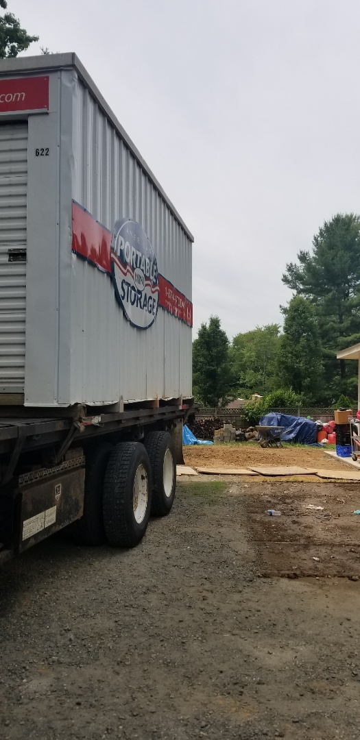 Lanham, MD - After a six month rehab on a nonprofit house American Potable Storage was able to remove the unit that stored all the supplies.