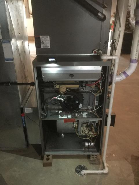 Huntley, IL - Maintenance cleaning on a 12 year old Lennox air conditioner