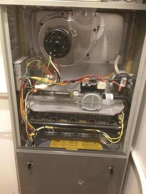 Elk Grove Village, IL - No heat service call on a 11 year old 80% 100,000btu 2 stage Trane Furnace
