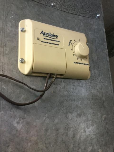 McHenry, IL - April Air Humidifier not operational. Replaced humidistat. Approved Comfort Heating and Air.