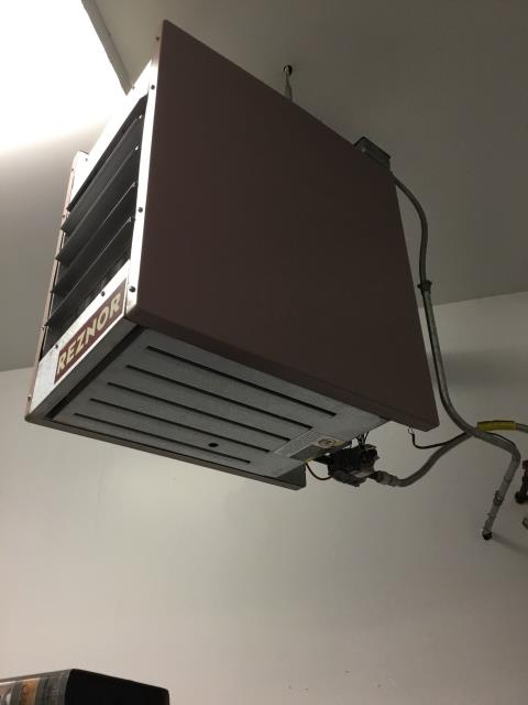 McHenry, IL - Unit heater in airplane hanger not working.  Fixed by your favorite hvac contractor