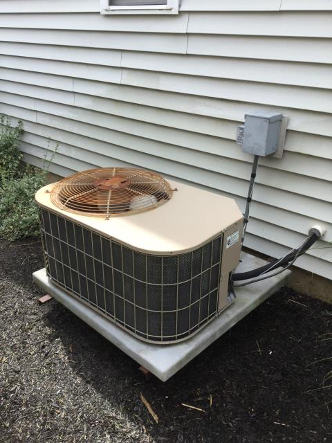 Huntley, IL - Performing air conditioner cleaning and inspection on 12 year York unit
