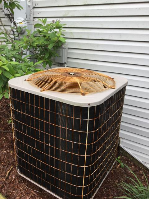 Huntley, IL - Performing air conditioner cleaning and inspection on 20 year old carrier unit