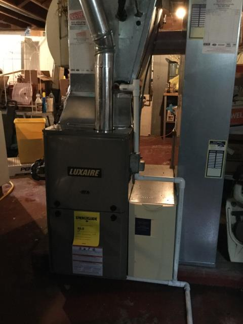 Marengo, IL - Installing luxaire furnace and rheem water heater