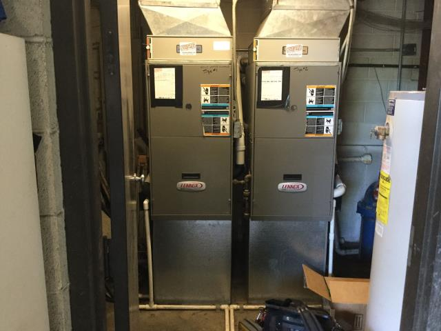 Lake Zurich, IL - Clean and check on 2 commercial furnaces
