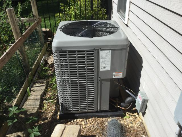 Geneva, IL - Quality inspection on brand new 14 seer air conditioner