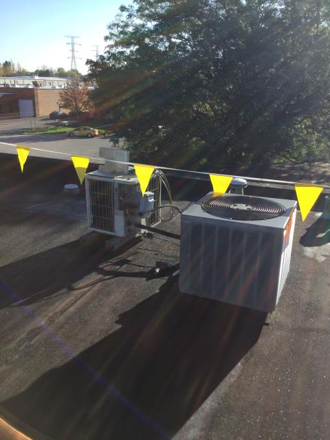 Carol Stream, IL - Disconnecting Air Conditioners in preparation of roof work to be performed