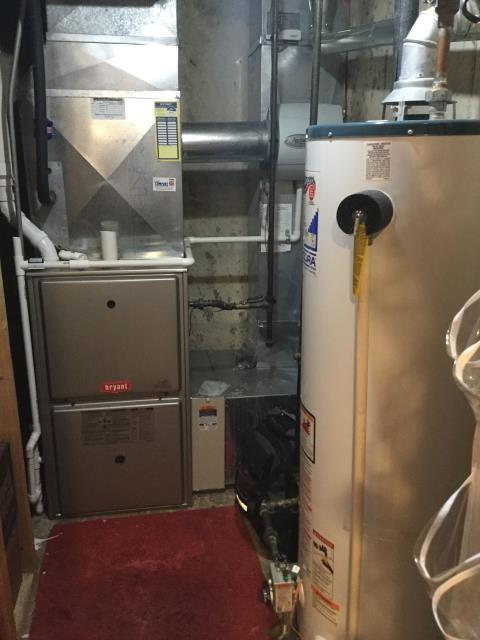Hoffman Estates, IL - Cleaning a 7 year old Bryant furnace getting ready for the winter