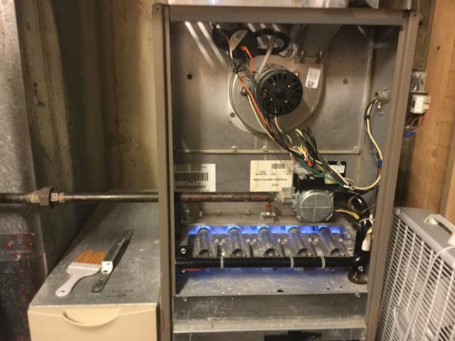 Algonquin, IL - Inducer motor replacement on an emergency no heat call Saturday morning for a 12 year old York furnace