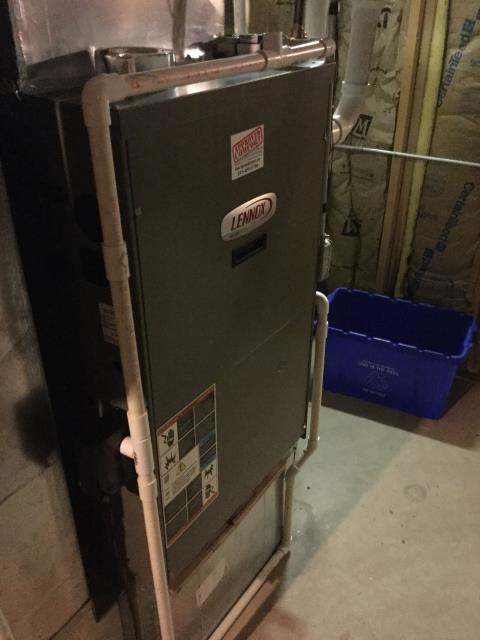 Algonquin, IL - Cleaning of a 6 year old high efficiency Lennox furnace
