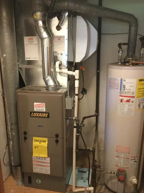 Mundelein, IL - Brand new Luxaire furnace install