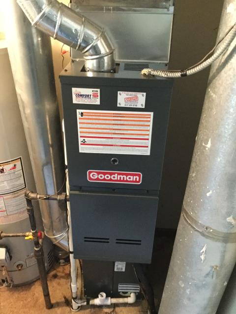 Algonquin, IL - Cleaning and safety inspection on a 2 year old Goodman furnace