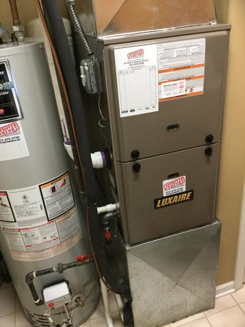 Huntley, IL - Luxaire residential furnace inspection