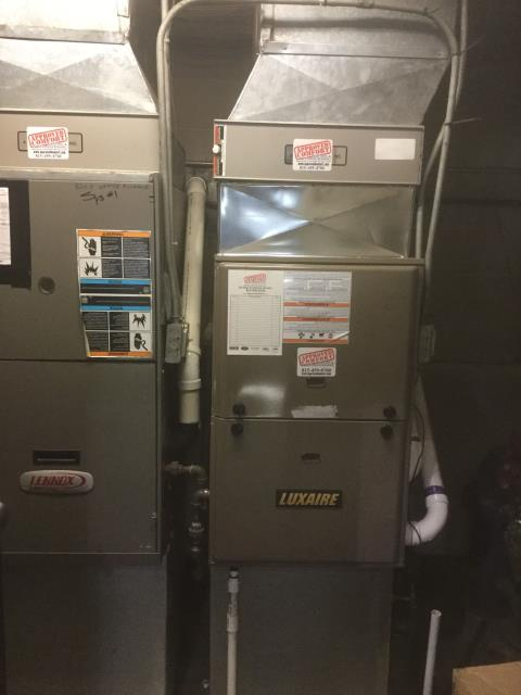 Lake Zurich, IL - Brand New Install of a 96% Efficient Luxaire Furnace