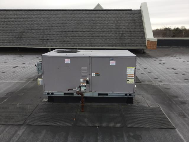 Village of Lakewood, IL - check a 11 year old carrier roof top heating unit, checked and replaced air filters, checked belt condition