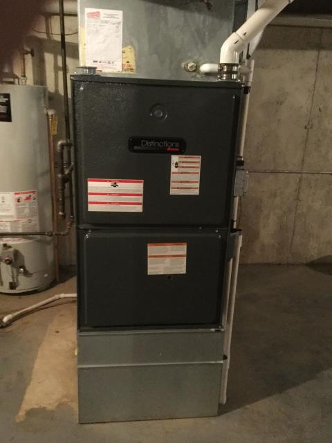 Carol Stream, IL - Furnace maintenance of Amana high efficiency gas furnace