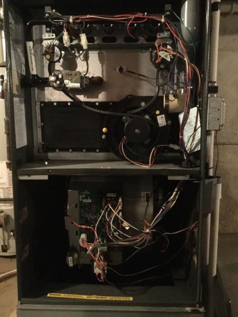 Carol Stream, IL - Furnace on Amana high efficiency gas furnace