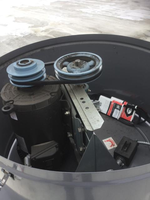 Cary, IL - Belt repair on a 3 horsepower blower for exhaust fan