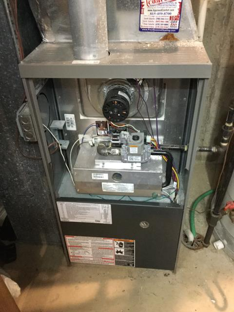 Crystal Lake, IL - 12 year old Lennox furnace maintenance