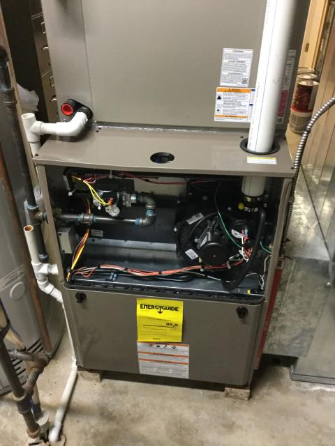 Lake in the Hills, IL - Luxaire furnace installation quality inspection.