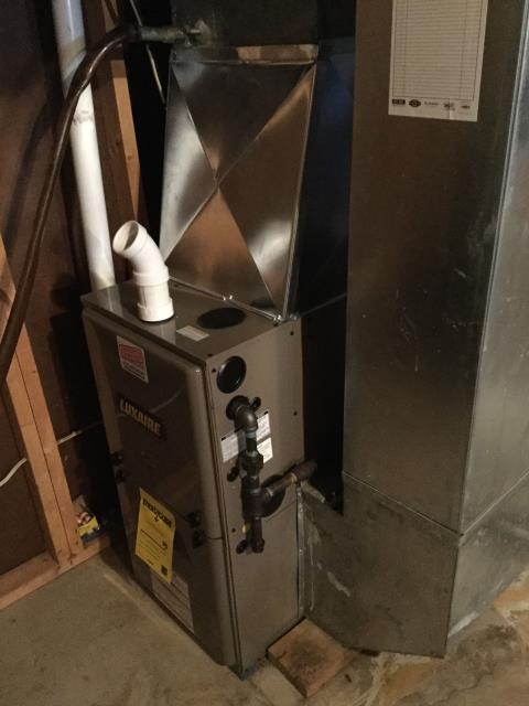 Harvard, IL - Inspect Luxaire furnace installation installation for quality