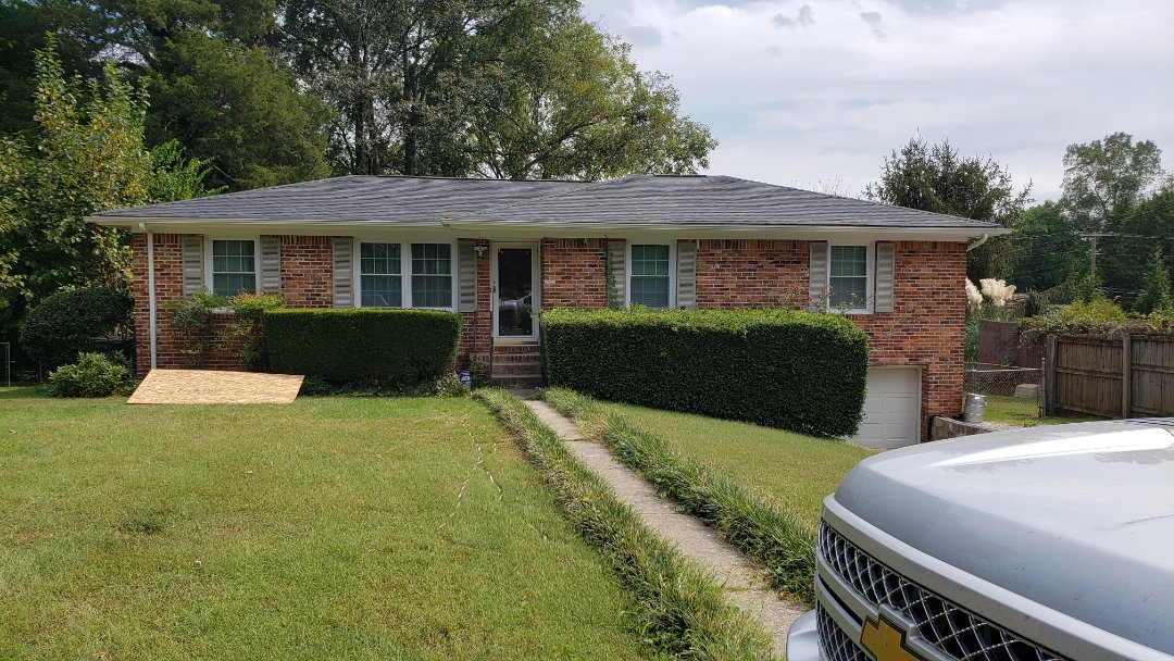 Huntsville, AL - At a customers house in Huntsville,AL looking to add gutters all around the house, call Ridgeline Construction for your free estimate!