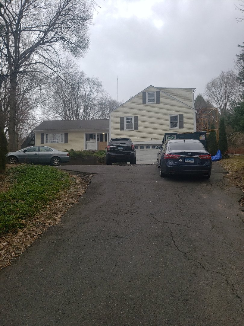 Farmington, CT - Quoting a new GAF Timberline hdz roof, seamless gutters and interior remodeling from flood damage!!