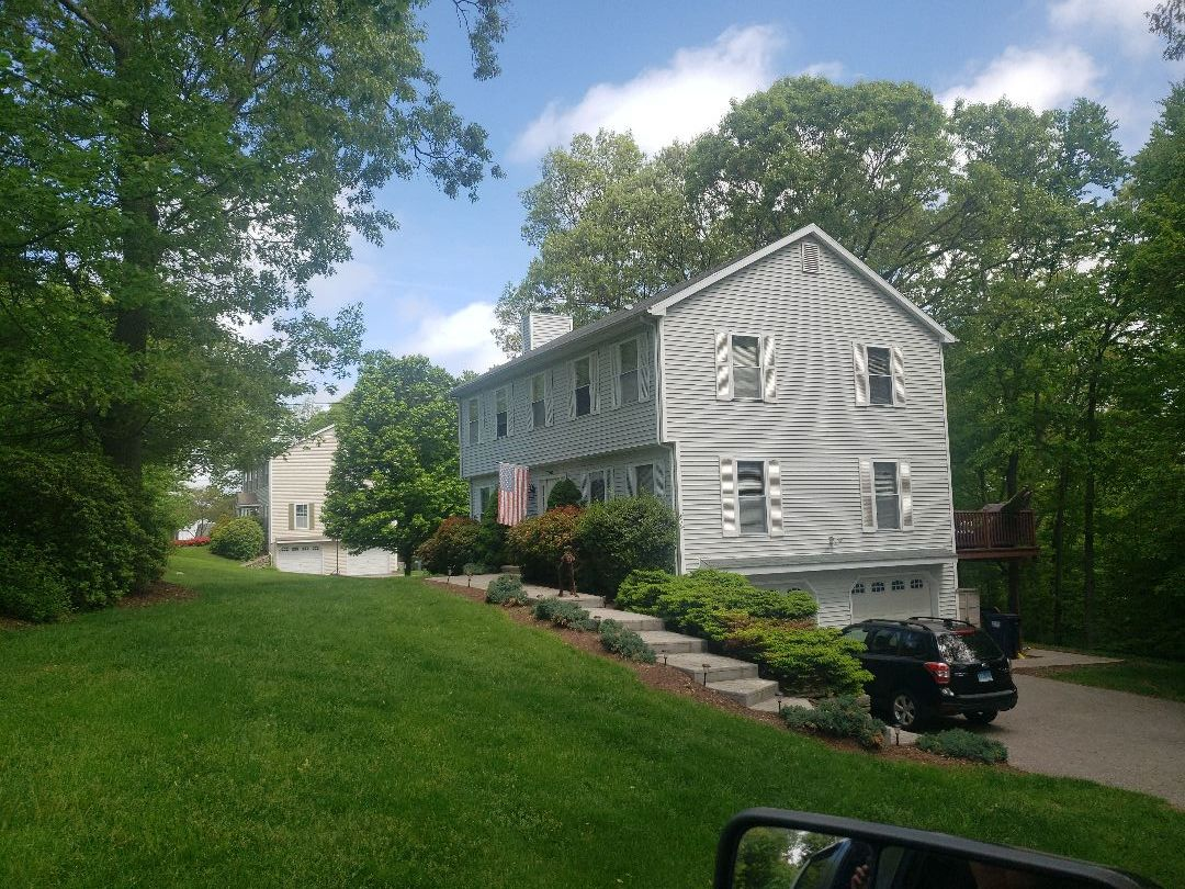Seymour, CT - Quoting a new GAF Timberline HDZ 50 year roof, ice and water shield, drip edge metal, cobra ridge vent and chimney box flashing.....with this roof system the owner will never have to worry about storm damage again