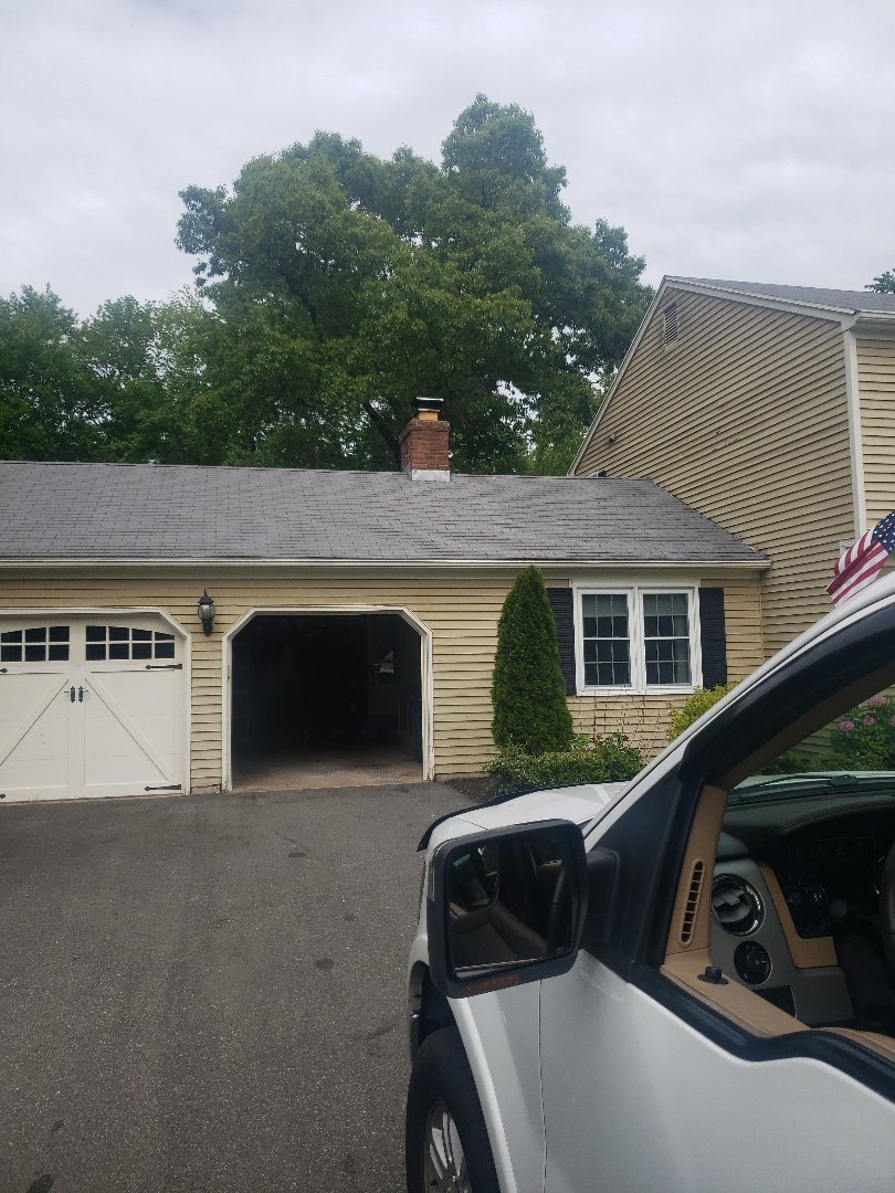 Cheshire, CT - A deteriorated chimney causing water leaks...I will quote a masonary redpoint and new counter flashing!