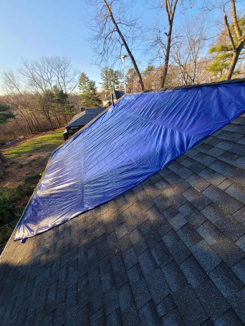 Plainville, CT - Need someone to tarp a roof from storm damage ? Call vnanfito roofing and siding today for a Free estimate